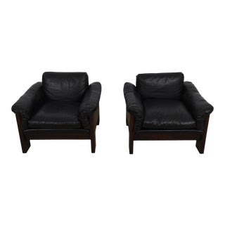 Danish Modern Case Chairs in Rosewood - a Pair