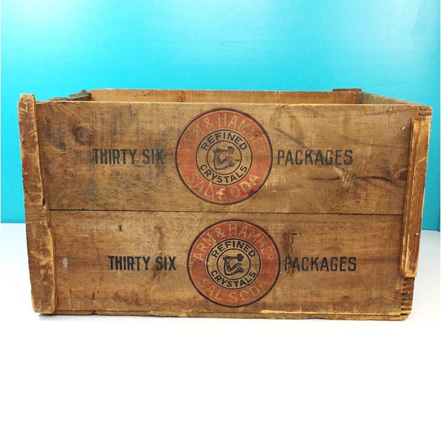 Vintage Arm & Hammer Soda Wood Shipping Crate - Image 3 of 7
