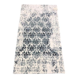 Vintage Distressed Blue Rug - 2'6'' x 4'9''