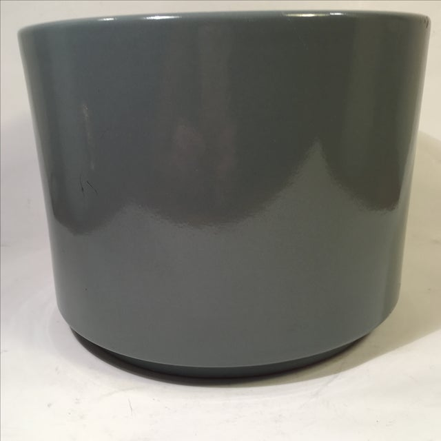 Vintage Gainey Planter in Slate Gray Gloss - Image 3 of 5