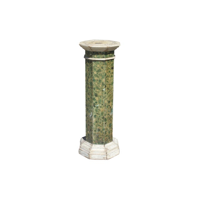 19th C. Faux Painted Stand/Pedestal - Image 1 of 7
