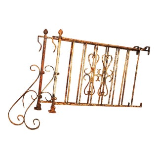 Shabby Chic Wrought Iron Balustrade Hand Rails - A Pair