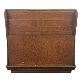 Vintage Wood Flat File Storage Rack