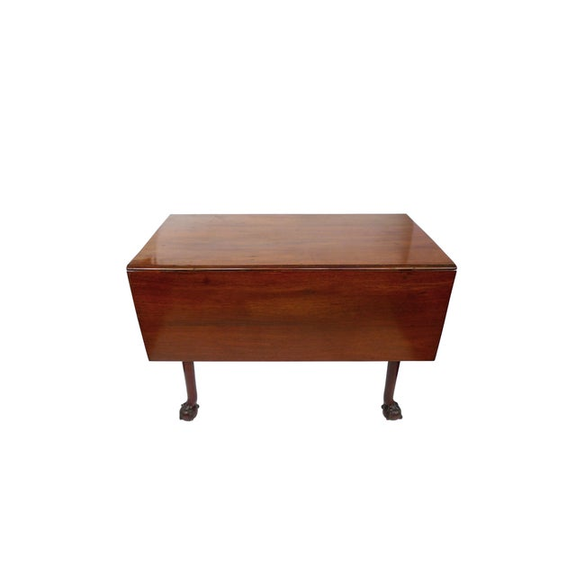 Image of 18th Century English Chippendale Drop Leaf Table