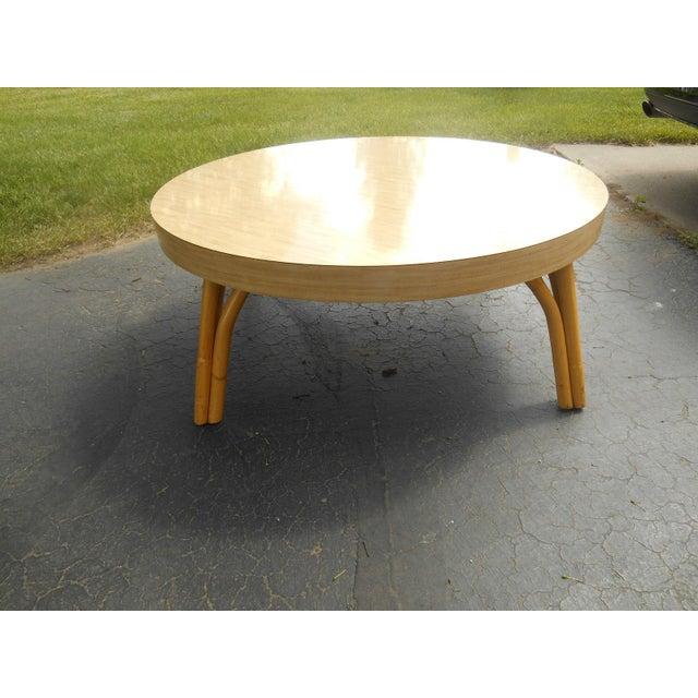 Mid Century Mod Asian Inspired Round Coffee Table Chairish