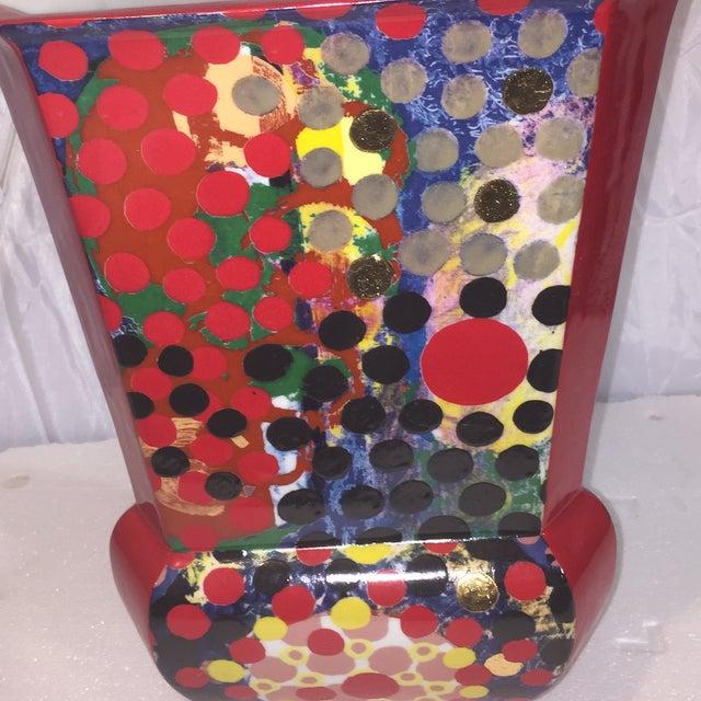 Porcelain Dot Vase - Image 3 of 5