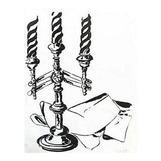 Candelabra Study in Black & White by A. Bessette