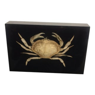 Vintage Gumps Crab in Lucite