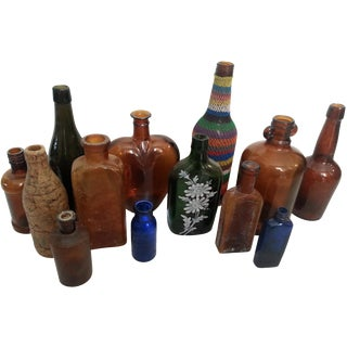 Collection of Antique Bottles - Set of 13