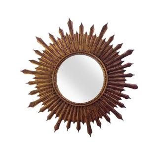 Large Wood Convex Starburst Mirror