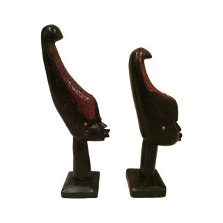 Vintage Hand Carved Haiti Man and Women
