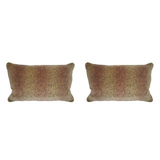 Kravet Baby Cheetah Velvet Pillows - A Pair