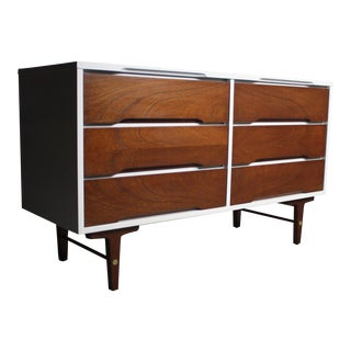 Stanley Mid-Century Two Tone Long Dresser