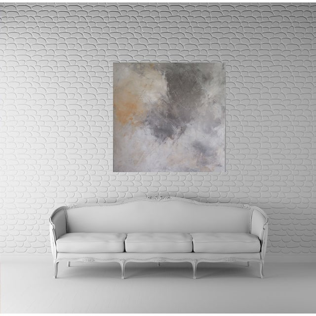 """""""Grey Sky"""" Abstract Painting by Kris Gould - Image 2 of 5"""