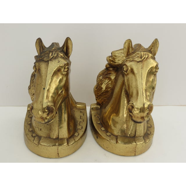 Horse Head Bookends- A Pair - Image 3 of 7