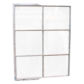 Industrial 6 Pane Steel Frame Glass Window