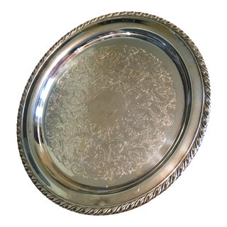 Oneida Silver Decorative Plate