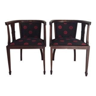 Pair of Antique English Mahogany Club Chairs