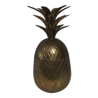 Vintage Brass Pineapple Container
