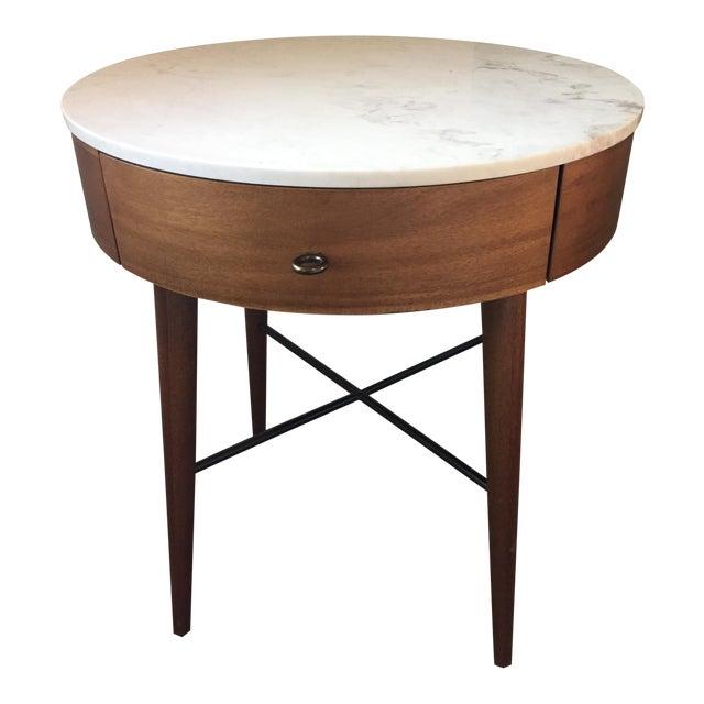West Elm Mid Century Marble Top Nightstand Chairish