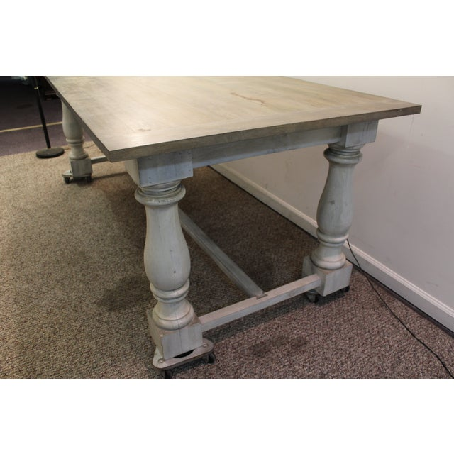 Primitive French Country Dining Table - Image 8 of 11