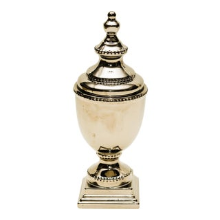 Metal Lidded Urn