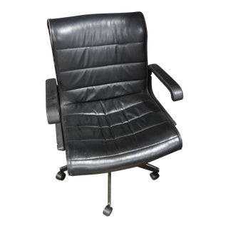 Black Leather Knoll Sapper Task Chair