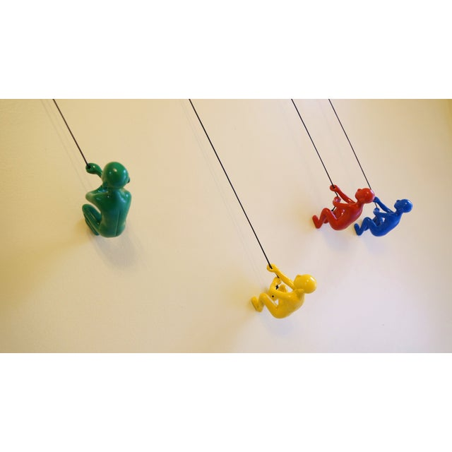 Multicolor Climbing Man Wall Art - 4 Pieces - Image 4 of 9