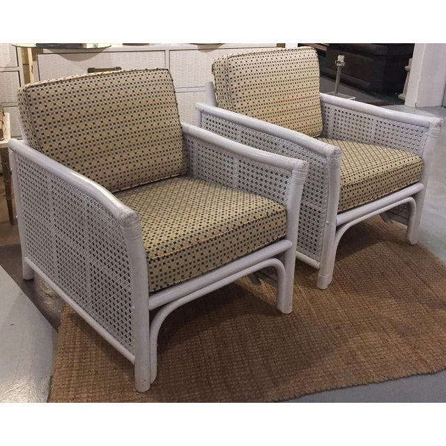 Ficks Reed Mid Century Bamboo & Caned Lounge Chairs - a Pair - Image 2 of 9