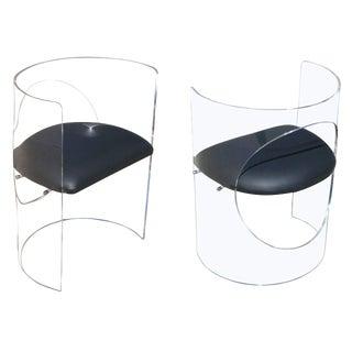 Charles Hollis Jones 1960s Style Designed Lucite Chair