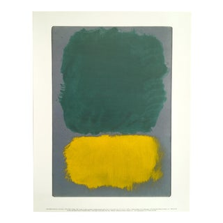 """Mark Rothko Abstract Expressionist Lithograph Print Poster """"Teal Yellow Gray"""", 1968"""
