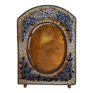 Antique Floral Mosaic Photo Frame