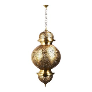 Large Handcrafted Filigree Copper Moroccan Lamp