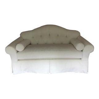 Dapha for Baker Cream Velvet Loveseat