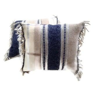 Wool Decorative Throw Pillows - A Pair