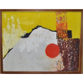 1960's Vintage Abstract Painting by Florence