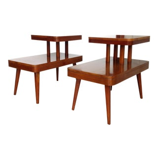 Mid Century Modern Step Side/End Tables - a Pair