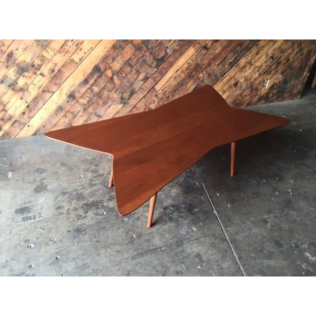 Mid-Century Bow Tie Coffee Table - Image 5 of 6