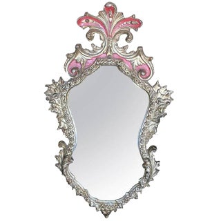Rococo Style Gilt, Shaped Frame Mirror