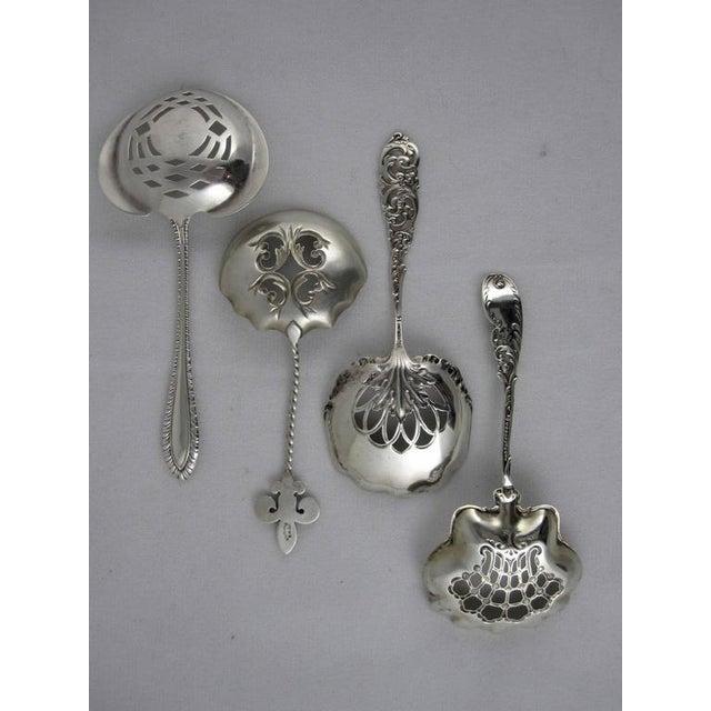 Victorian Sterling Silver Pierced Bon-Bon Servers - Set of 4 - Image 3 of 10