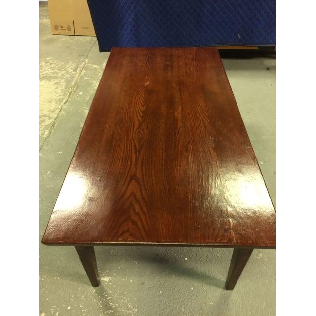 Image of Mid-Century Oak Coffee Table