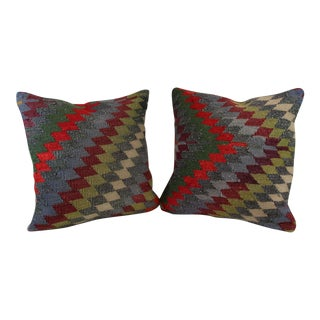 Turkish Kilim Pillow Covers - A Pair