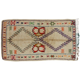 Hand-Knotted Moroccan Rug - 8' X 4'4''