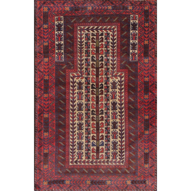 "Pasargad Balouch Collection Rug - 2'2'9"" X 4'6"" - Image 1 of 2"