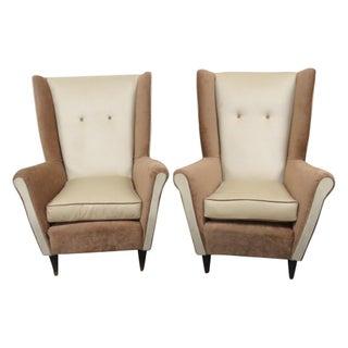 Italian Modern Lounge Chairs - a Pair