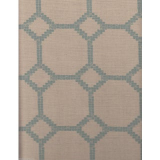 Jim Thompson Mosaica II Aqua & Cream Fabric - 6 Yards