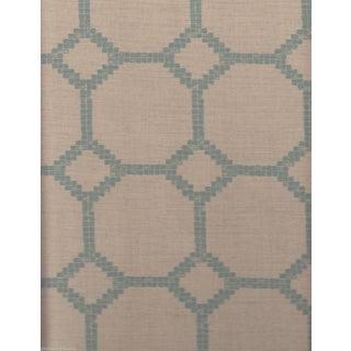 Jim Thompson Mosaica II Aqua & Cream Fabric - 6 Yards