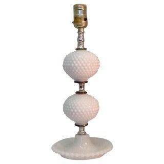 Vintage Milkglass Hobnail Lamp