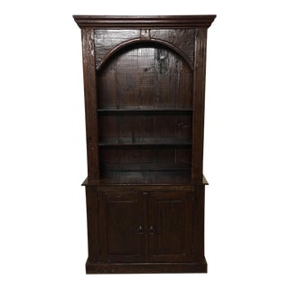 Rustic Wooden Cabinet With Hutch
