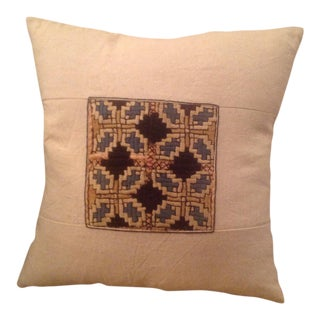 Vintage Embroidery Pieced Pillow